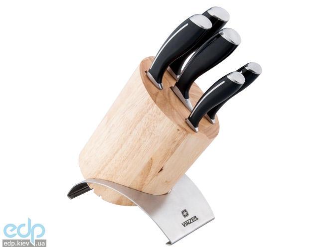 Vinzer - Набор ножей FUSION - 6 предметов, деревянная подставка (арт. 89108)