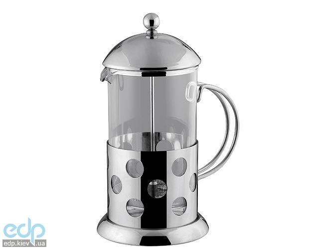 Vinzer - Кофейник / Заварник для чая - нержавеющая сталь, стекло Circle, 1000 мл (арт. 89350)