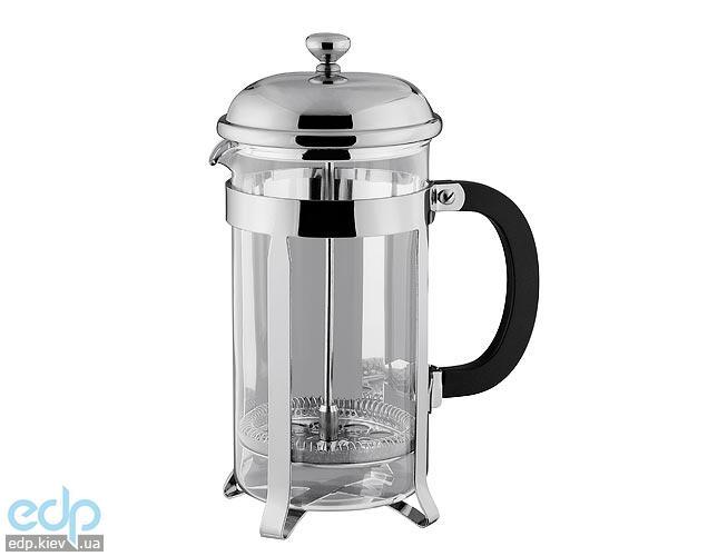 Vinzer - Кофейник / Заварник для чая Classic - нержавеющая сталь, стекло Pyrex, 1000 мл (арт. 89359)