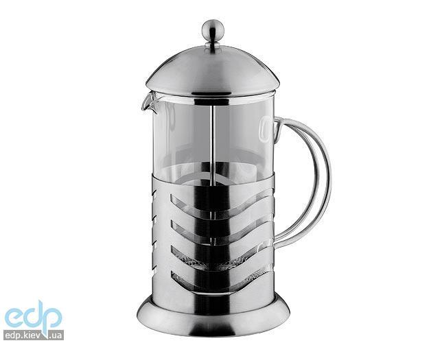 Vinzer - Кофейник / Заварник для чая Wave - нержавеющая сталь, стекло Pyrex, 1000 мл (арт. 89361)