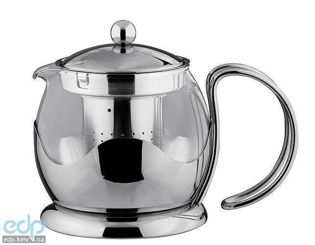 Vinzer - Кофейник / Заварник для чая - нержавеющая сталь, стекло Pyrex, 700 мл (арт. 89364)