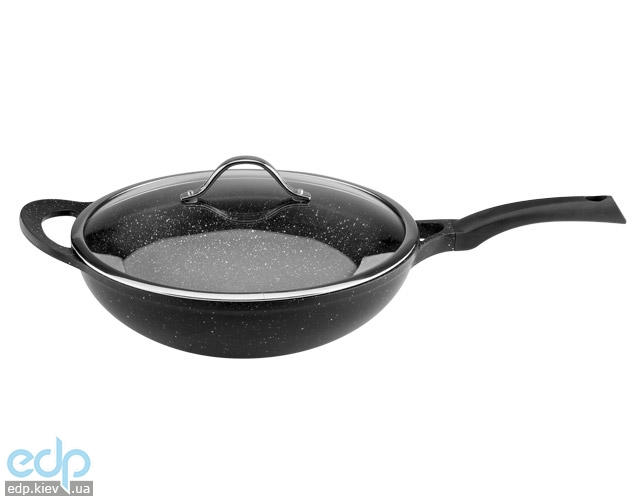 Vinzer - Сковорода вок с крышкой Premium Granite line - диаметр 32 см (арт. 89456)