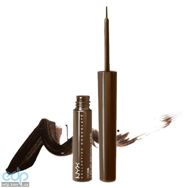 NYX - Подводка для глаз Collection Chocolat Liquid Brown Liner CC06 - 3.5 g
