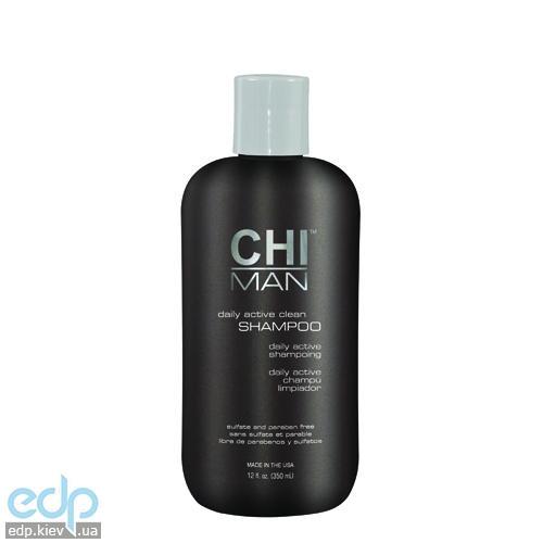 CHI Man Daily Active Clean Shampoo - Ежедневный шампунь для мужчин - 300 ml (арт. CHI5630)