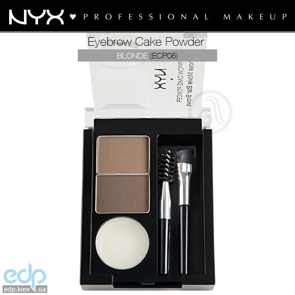 NYX - Тени для бровей Eyebrow Cake Powder Blonde ECP06 - 2.65 g