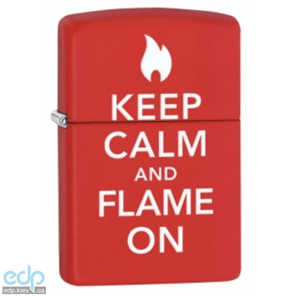 Зажигалка Zippo - Keep Calm And Flame On (28671)