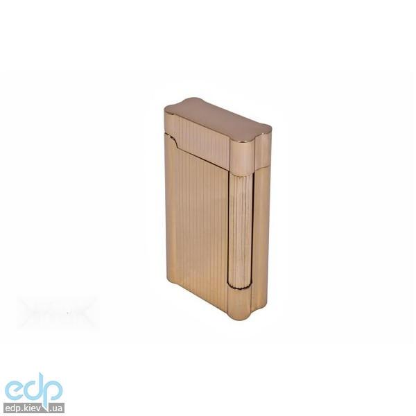 Pierre Cardin - Зажигалка газовая кремниевая золото с насечкой  (арт. MF-222-01)