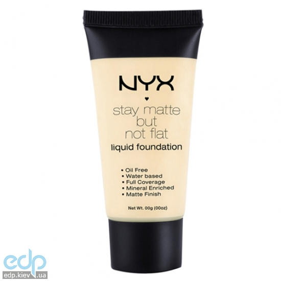 NYX - Тональная основа Stay Matte But Not Flat Liquid Foundation SMF01 Ivory - 35 ml