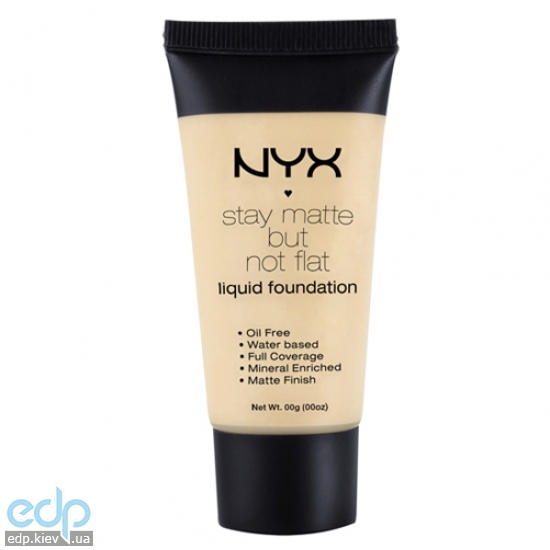 NYX - Тональная основа Stay Matte But Not Flat Liquid Foundation SMF02 Nude - 35 ml