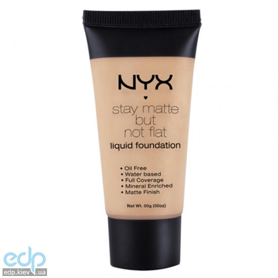 NYX - Тональная основа Stay Matte But Not Flat Liquid Foundation SMF09 Tan - 35 ml