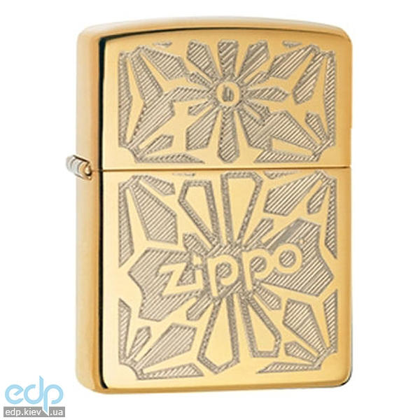 Зажигалка Zippo - Ornament High Polish Brass (28450)