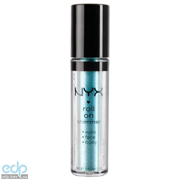 NYX - Тени-пигменты ультрасияющие Roll On Shimmer Light Blue сияющий холодный голубой RES03 - 1.5 g
