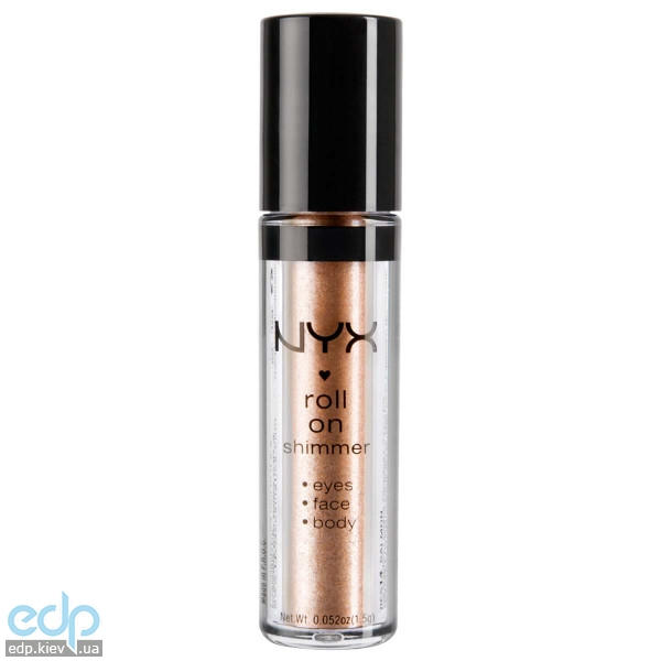 NYX - Тени-пигменты ультрасияющие Roll On Shimmer Nude золотисто-бежевый пигмент RES15 - 1.5 g