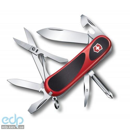 Складной нож Victorinox - Delemont EvoGrip 16 - 85 мм, 14 функций красно-черный (2.4903.C)