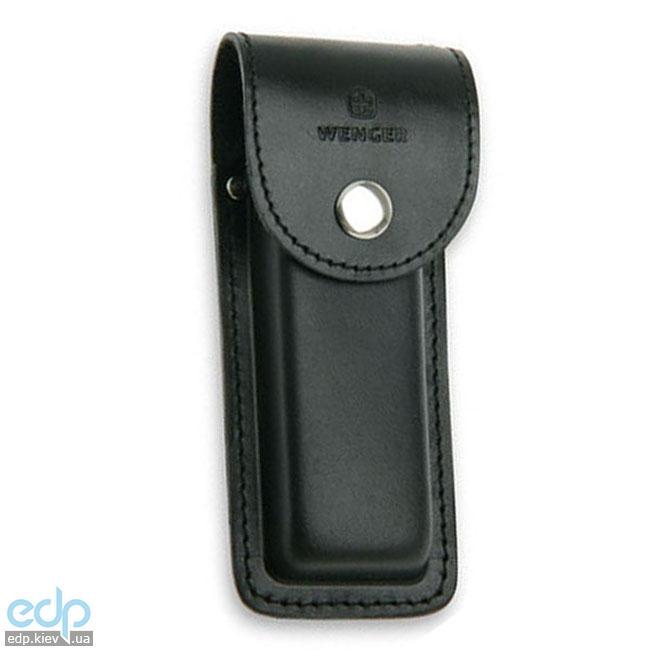 Wenger - Кожаный чехол на кнопке для ножей Ranger черный (арт. H3 Black)