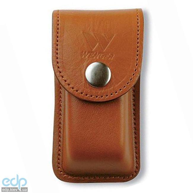 Wenger - Кожаный чехол на кнопке для классических ножей Brown (арт. H6 Brown)