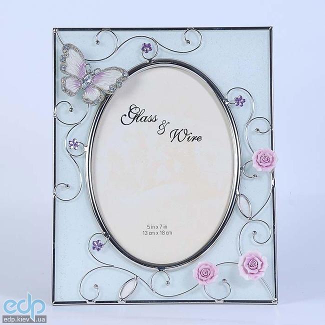 Charme De Femme - Фоторамка Бабочка на чайной розе (арт. 307-57)
