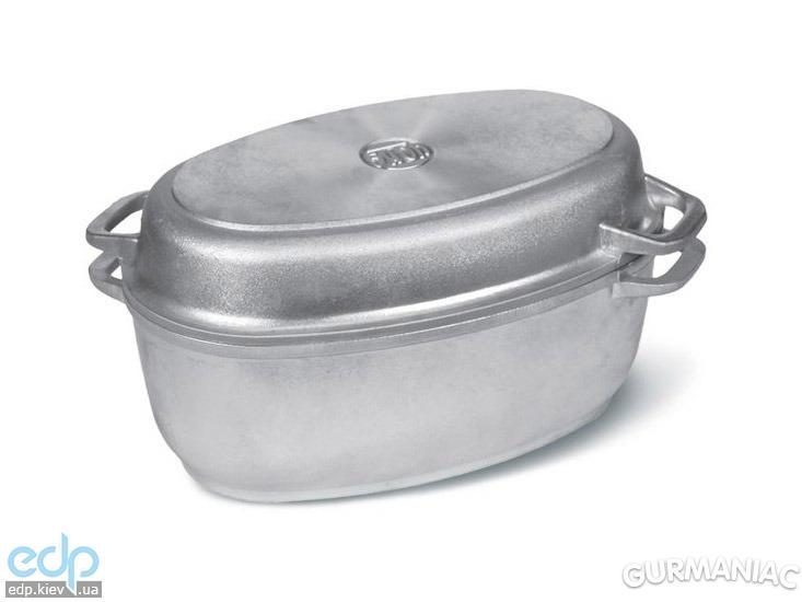 Биол - Гусятница + крышка сковородка алюминиевая с утолщенным дном объем 3 л (Г301)