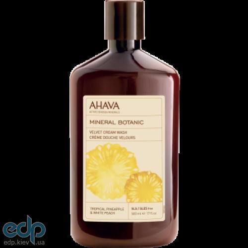Ahava - Мягкий крем для душа ананас/персик - Mineral Botanic Cream Wash Pineapple and White Peach - 500 ml