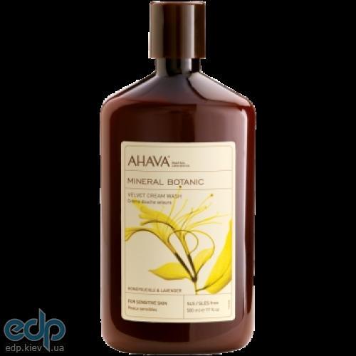 Ahava - Мягкий крем для душа жимолость/лаванда - Mineral Botanic Cream Wash Honeysuckle - 500 ml
