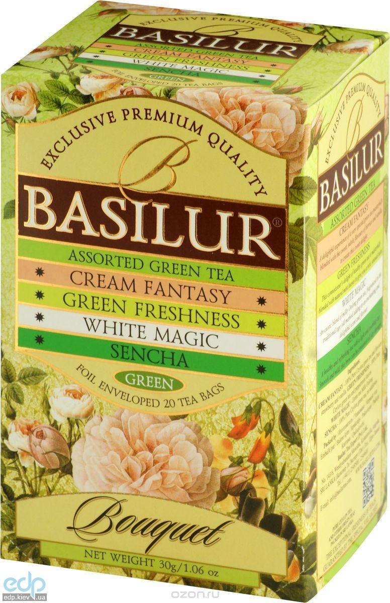 Basilur - Чай зеленый Букет Ассорти - в пакетиках - 20шт. х 1.5g (4792252001121)