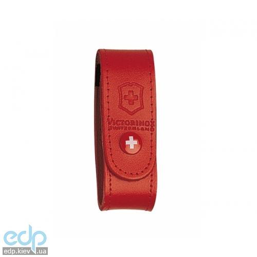 Чехол для ножа Victorinox - на пояс кожа красный на кнопке (4.0520.1)
