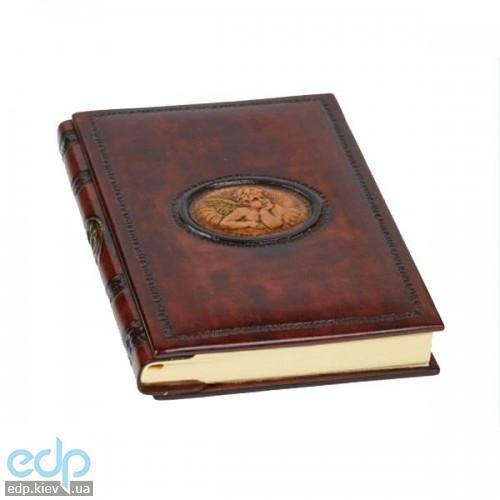 Florentia - Адресная книжка кожаная Задумчивый ангел - 15*22 см