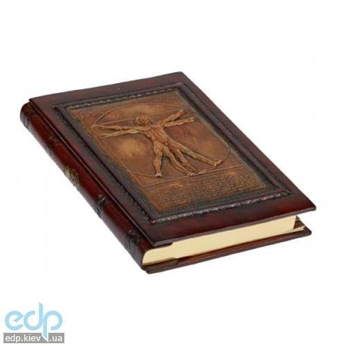 Florentia - Адресная книжка кожаная Витрувианский человек - 15x22 см