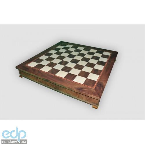 Nigri Scacchi - Шахматное поле-бокс с местом для укладки шахмат Box wood- Доска 35x35x4 см (CD52G)