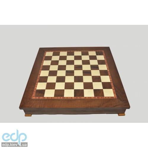 Nigri Scacchi - Шахматное поле-бокс с местом для укладки шахмат (коричневая доска) Box marrone - доска 33x33x4 см (CD33G)