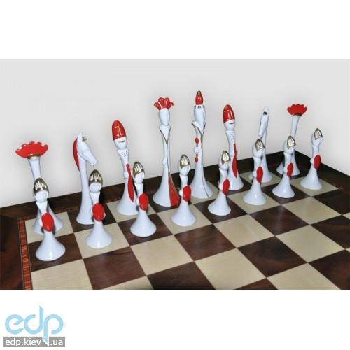 Nigri Scacchi - Шахматные фигуры Modigliani style (medium size) - Стиль Модильяни - Фигуры 9,5-13 см (SP125)