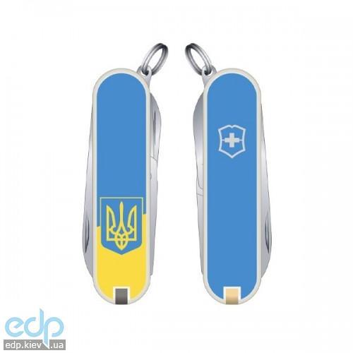 Складной нож Victorinox - Classic Sd Ukraine - 58 мм, 7 функций желто-голубой герб (0.6223.7R3)