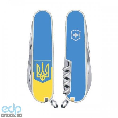 Складной нож Victorinox - Climber Ukraine - 91 мм, 14 функций желто-голубой герб (1.3703.7R3)