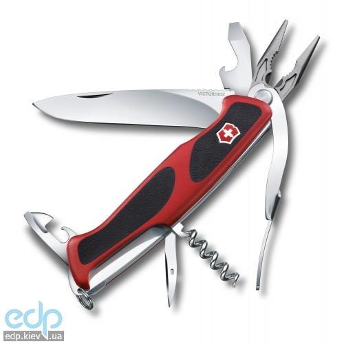 Складной нож Victorinox - RangerGrip 74 - 130 мм, 14 функций красно-черный (0.9723.C)