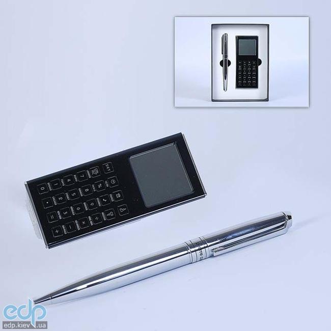 Pierre Cardin - Набор Калькулятор и ручка шариковая серебряная (арт. TS1001/C)