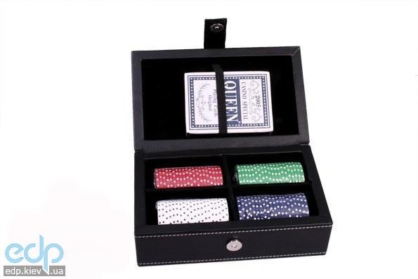 Настольная игра - Набор для покера Duke в кожаном кейсе на 100 фишек (арт.PATF001)