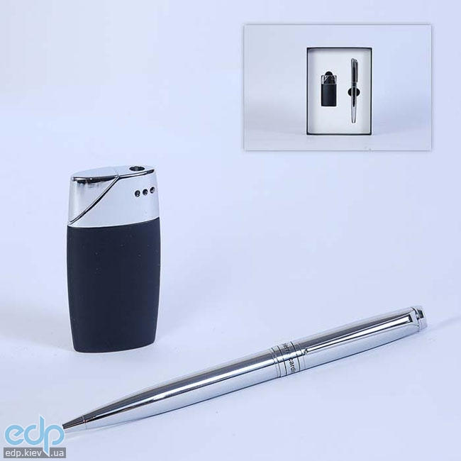 Pierre Cardin - Набор зажигалка и шариковая ручка хром (арт. TS1002/C)