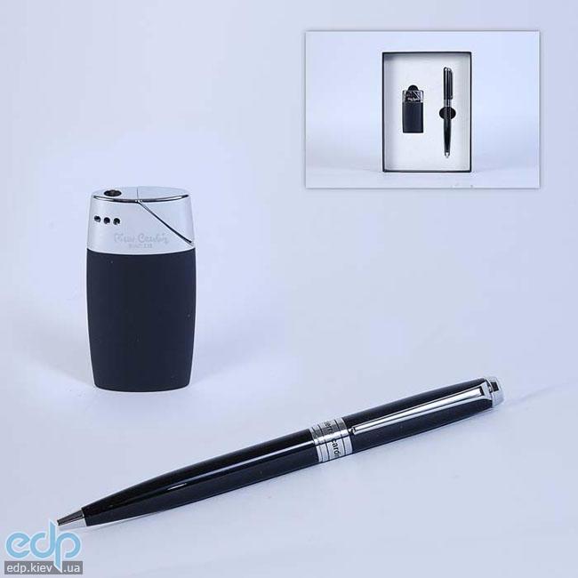 Pierre Cardin - Набор зажигалка и шариковая ручка черная (арт. TS1002/N)