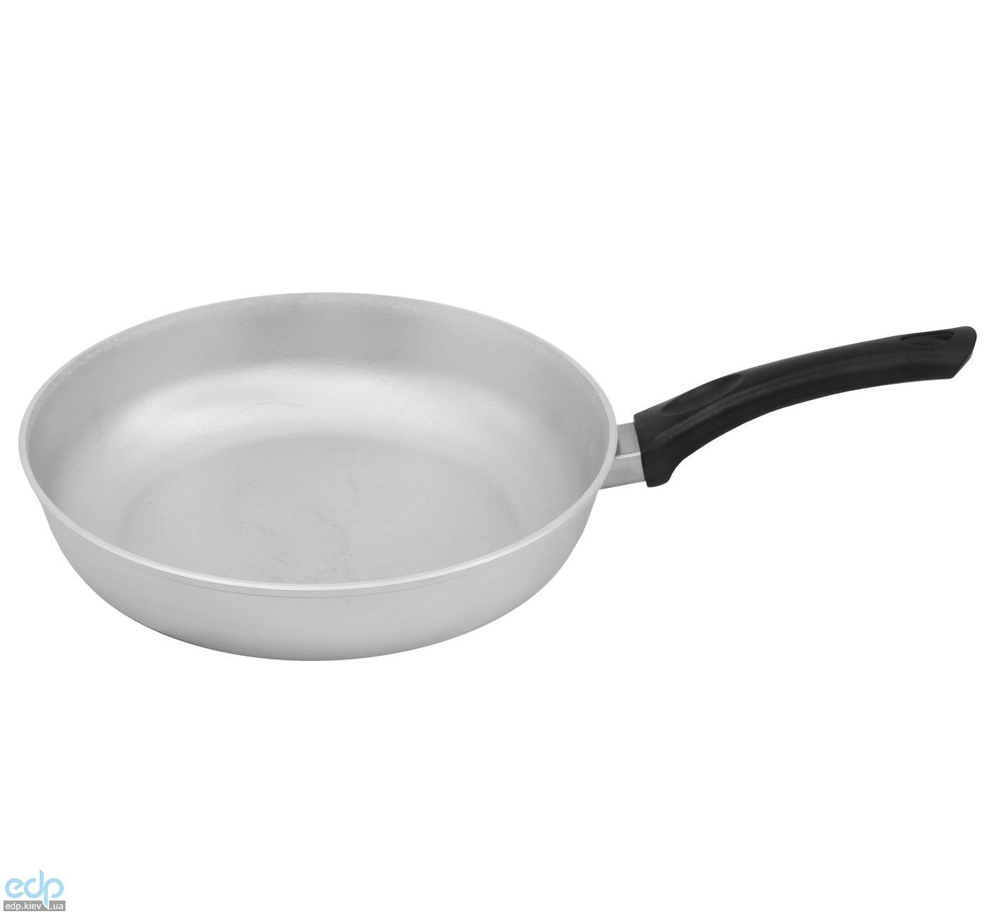 Биол - Сковорода с ровным дном алюминиевая без крышки диаметр 28 см (С283)