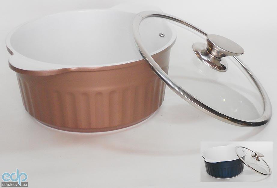 Peterhof - Кастрюля с крышкой объем 2.4 л диаметр 20 см керамика (арт. PH15755-20)