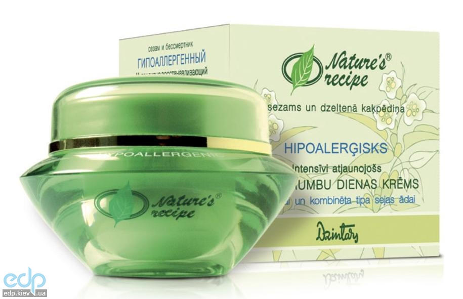 Dzintars (Дзинтарс) - Интенсивно восстанавливающий дневной крем от морщин для нормальной и комбинированной кожи лица Nature's Recipe сезам и бессмертник - 50 ml (28535dz)