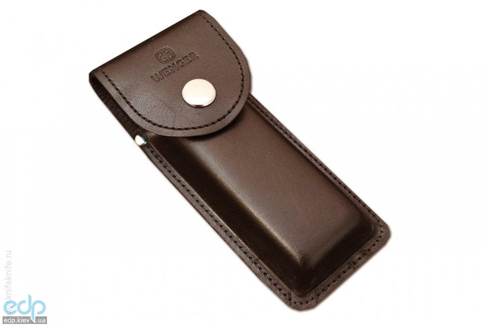 Wenger - Кожаный чехол на кнопке для ножей Ranger коричневый (арт. H3 Brown)