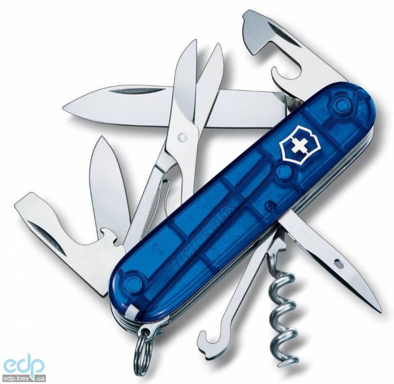 Складной нож Victorinox - Climber - 91 мм, 14 функций полупрозрачный синий (1.3703.T2)