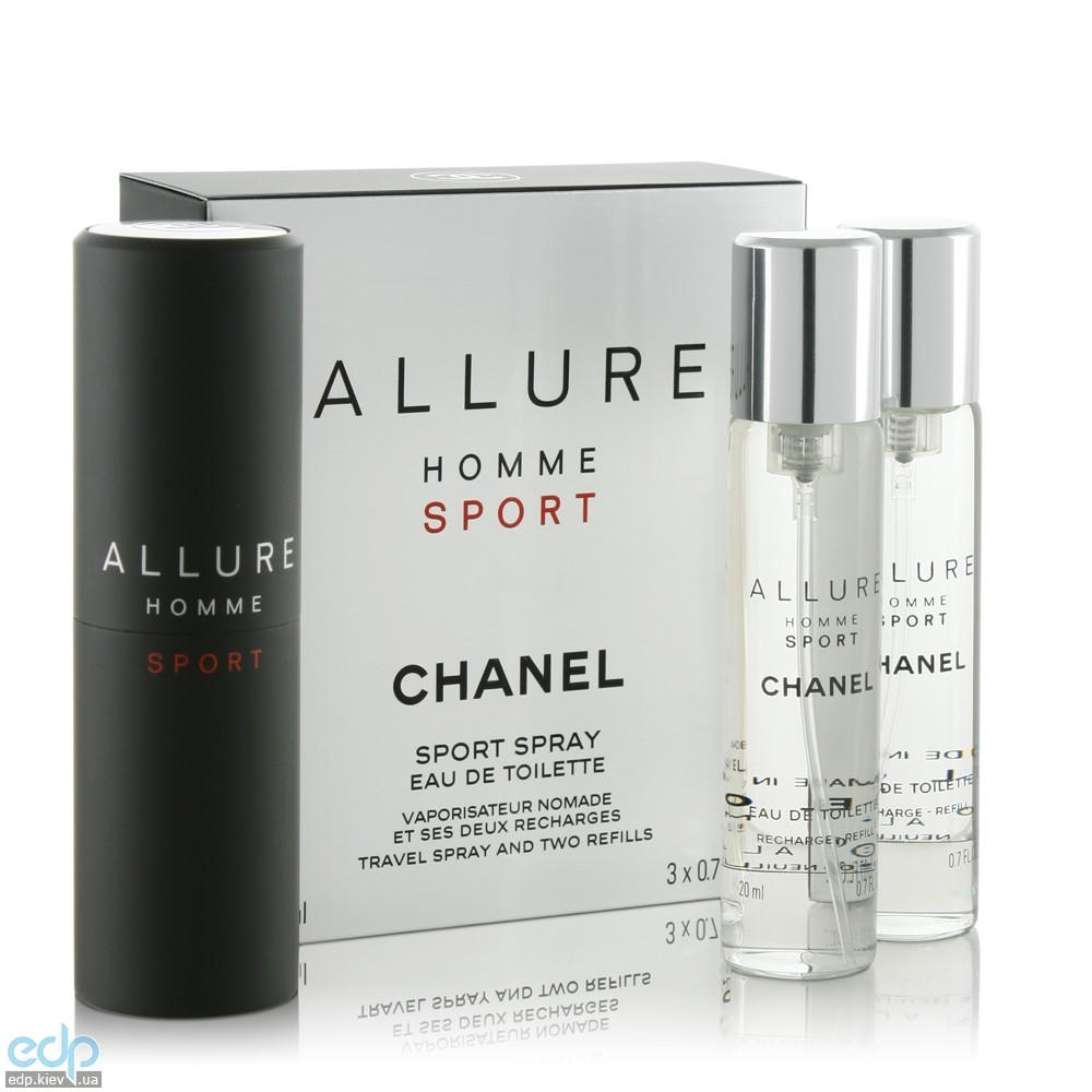 Chanel Allure homme Sport - туалетная вода - 3x20 ml Refill