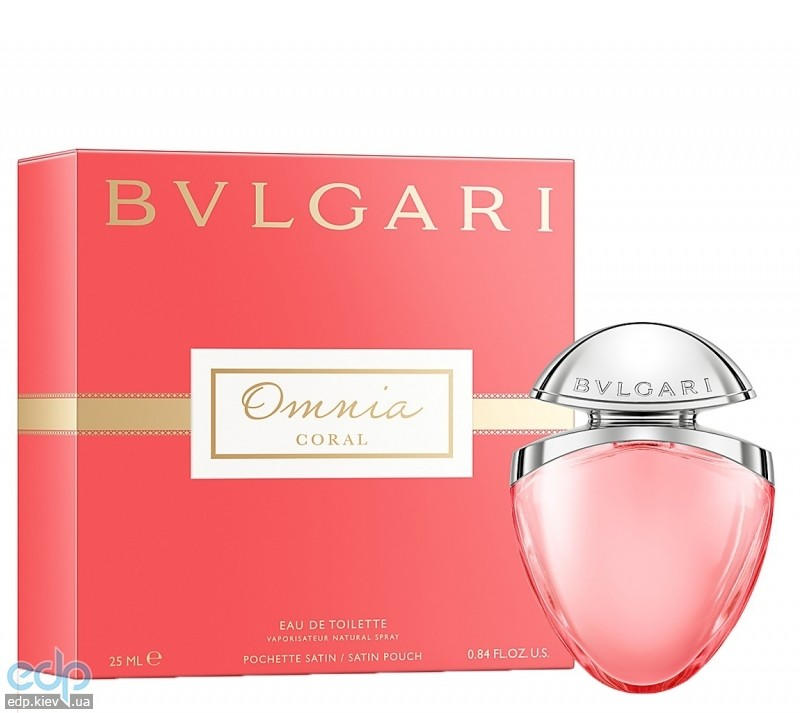 Bvlgari Omnia Coral -  Набор (туалетная вода 25 + satin pouch)
