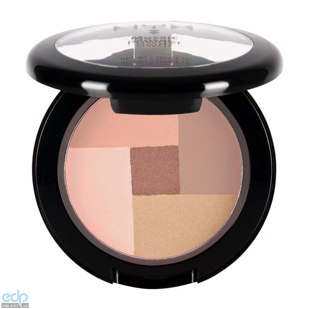 NYX - Мозаичные пудровые румяна Mosaic Powder Blush Peachy MPB04 - 5.7 g