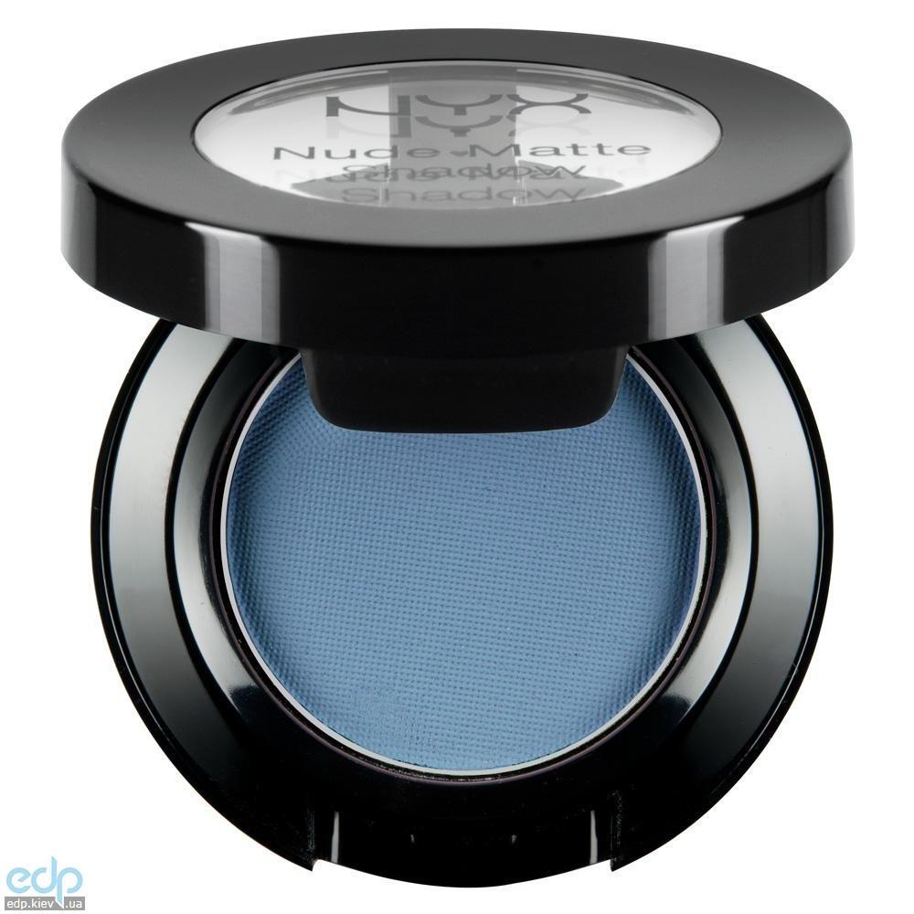 NYX - Матовые тени Nude Matte Shadow Voyeur синие NMS06 - 1.6 g