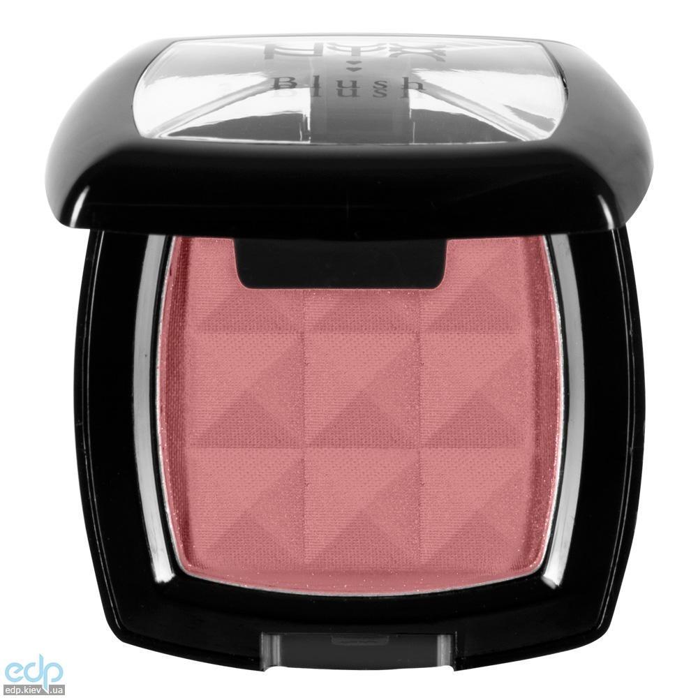 NYX - Компактные румяна Nyx Powder Blush матовый розовый с коричневым подтоном Dusty Rose PB02 - 4 g