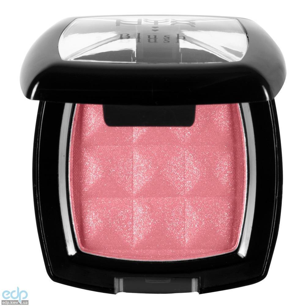 NYX - Компактные румяна Nyx Powder Blush персиково- розовый с золотым мерцанием Pinched PB25 - 4 g