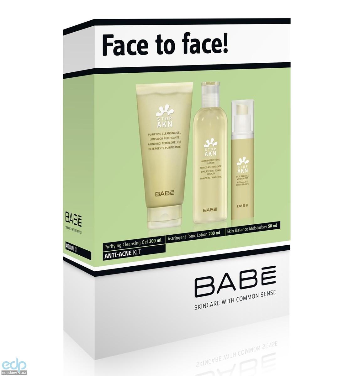Babe Laboratorios - Набор для лица (Тоник, сужающий поры + Балансирующий увлажняющий крем + Очищающий гель ) - 50 ml + 200 ml + 50 ml (арт. ST0033)